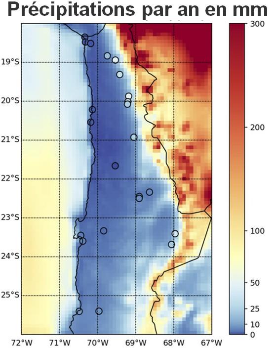 Précipitations désert Atacama
