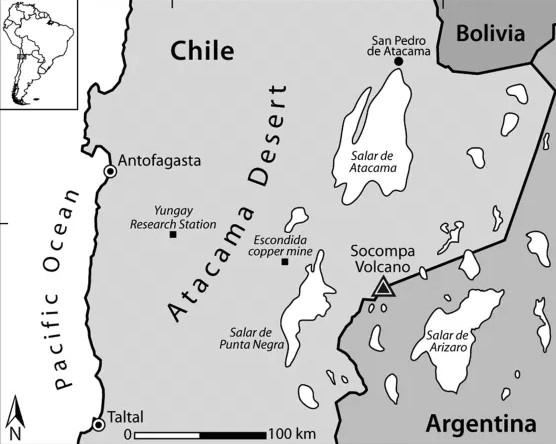 Carte désert Atacama